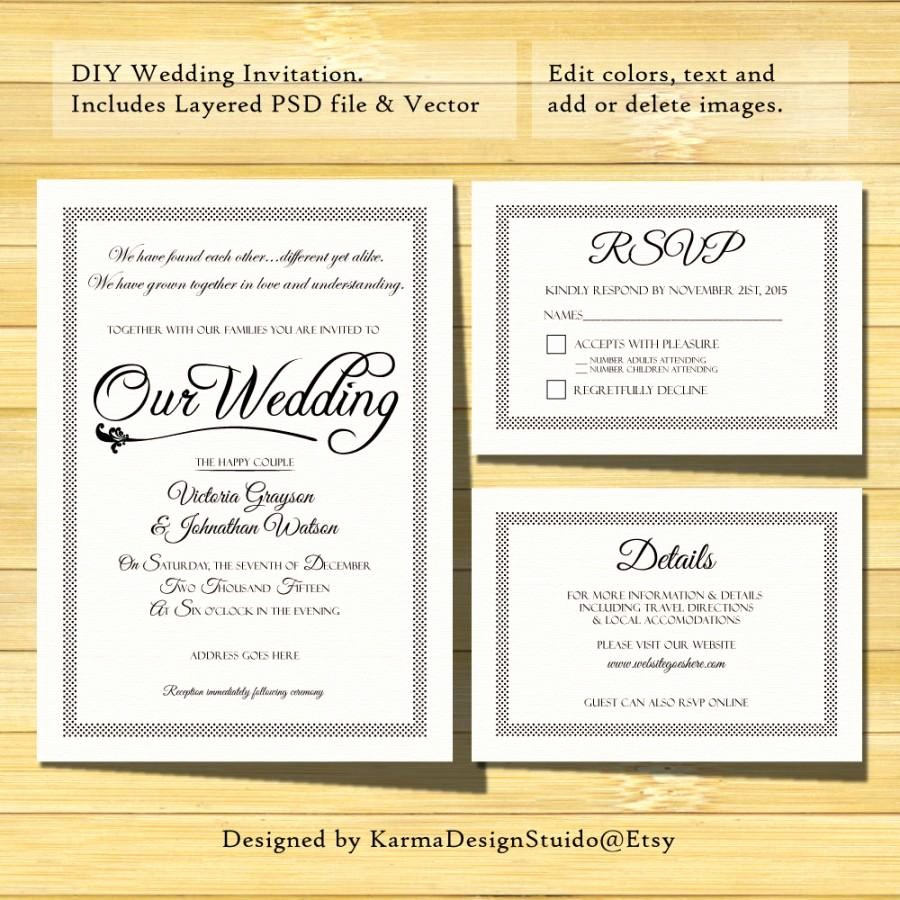 Wedding Response Card Template Free Best Of Wedding Invitation Template Instant Download Printable