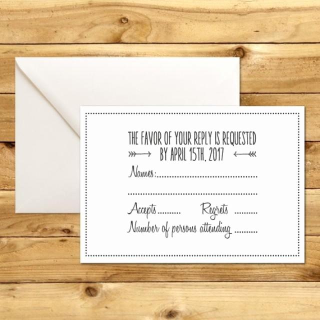 Wedding Response Card Template Free Elegant Printable Wedding Rsvp Response Card Template Dark