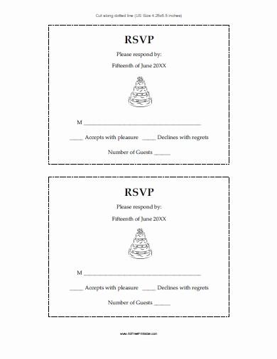 Wedding Response Card Template Free Inspirational Free Rsvp Template