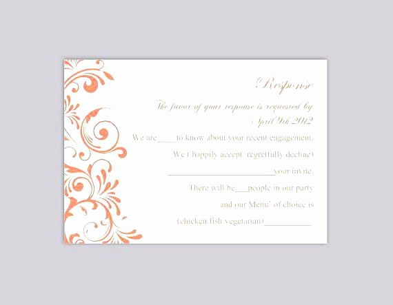 Wedding Response Card Template Free Lovely Rsvp Card Template Free Download for Resume Menu Templates