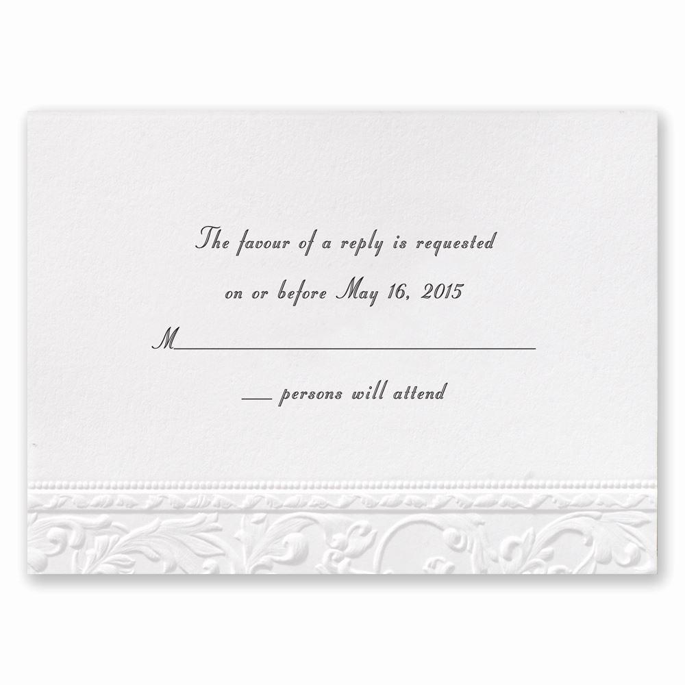 Wedding Response Card Template Free Lovely Vintage White Response Card
