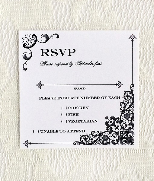 Wedding Response Card Template Free New Vintage Iron & Lace Square Rsvp Template