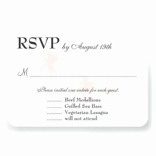 Wedding Response Card Template Free Unique Pink Black Card Wedding Response Template Free Download