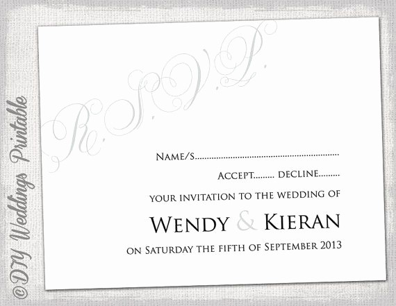 Wedding Response Card Templates Free Beautiful 32 Best Rsvp Cards Images On Pinterest