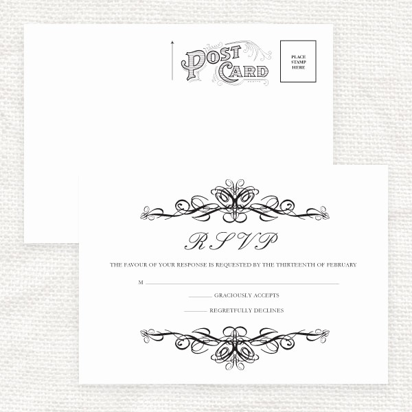 Wedding Response Card Templates Free Beautiful 7 Best Of Printable Rsvp Cards for Weddings Free