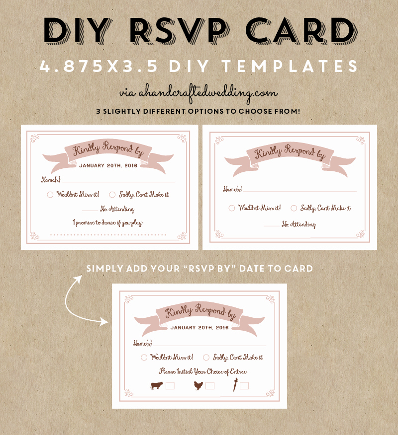 Wedding Response Card Templates Free Beautiful Free Printable Rsvp Wedding Cards Negocioblog