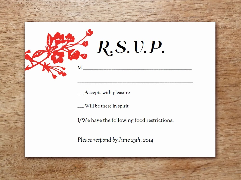 Wedding Response Card Templates Free Fresh 6 Best Of Wedding Rsvp Postcard Template Wedding