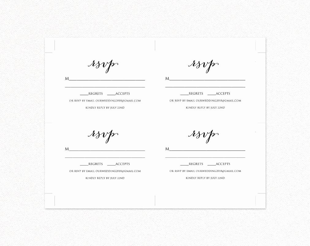 rsvp card template edit print instant diy template printable insert card templates 5