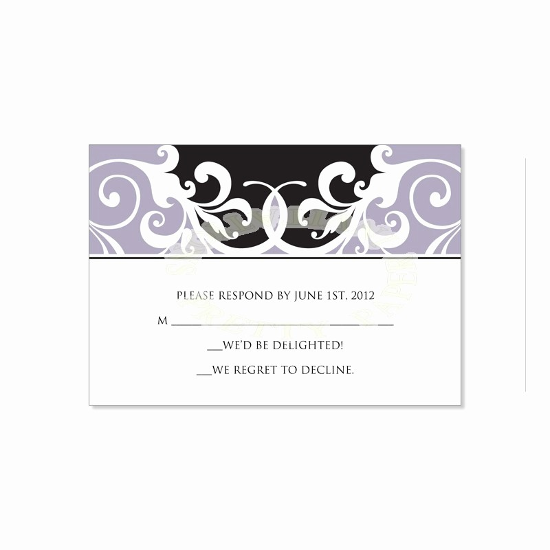 Wedding Response Card Templates Free Fresh Wedding Rsvp Template