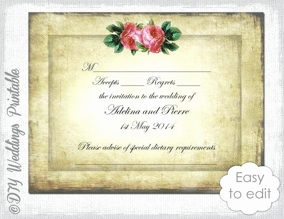 Wedding Response Card Templates Free Fresh Wedding Template Download Vintage Valentine Heart