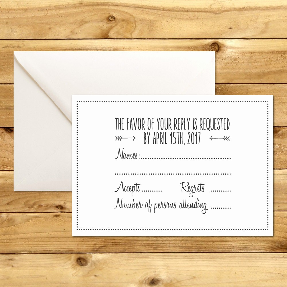 Wedding Response Card Templates Free Inspirational Rsvp Diy Wedding Template Rsvp Template Rustic Wedding