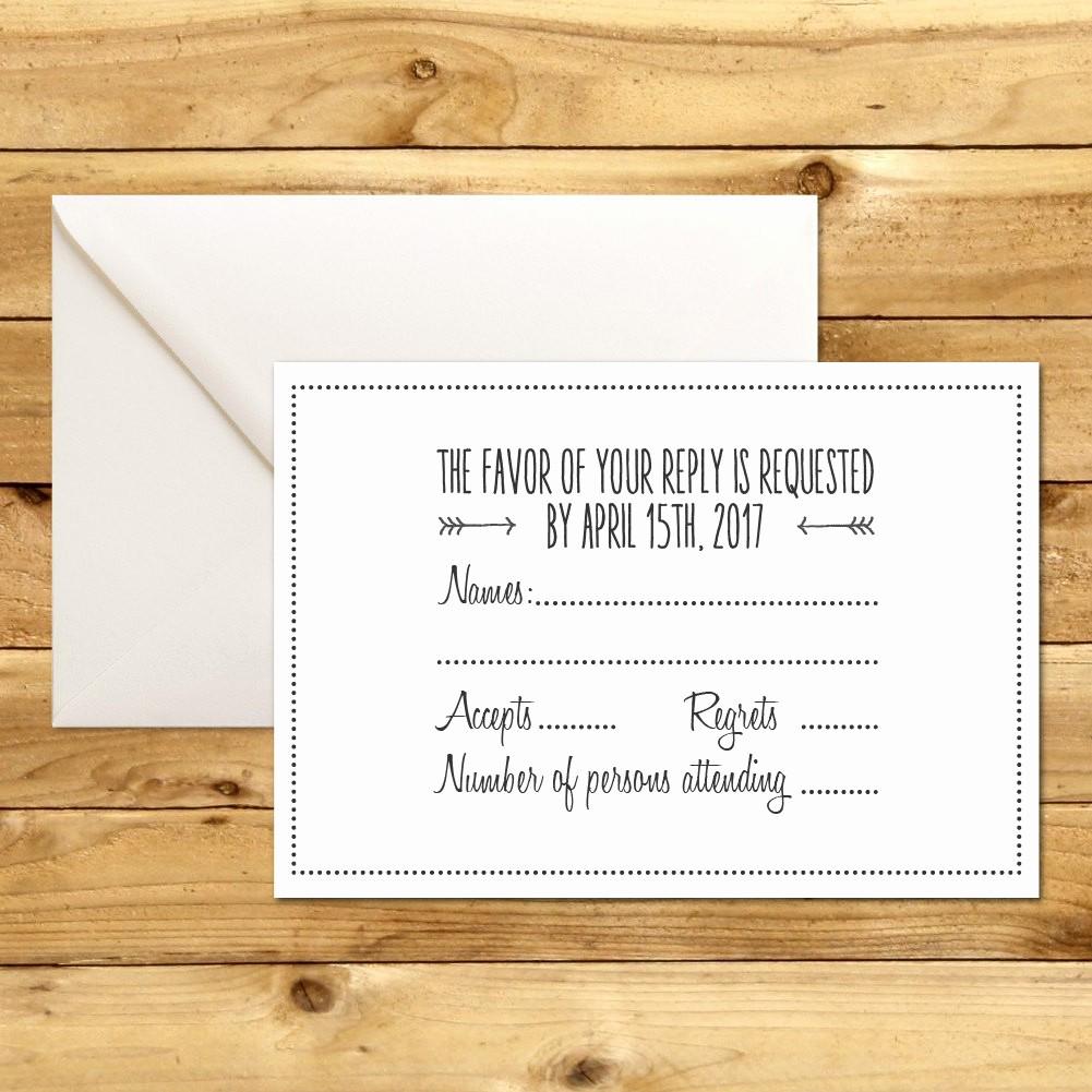 Wedding Response Card Templates Free Inspirational Rsvp Diy Wedding Template Rsvp Template Rustic Wedding