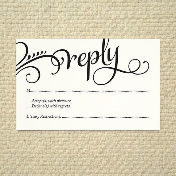 Wedding Response Card Templates Free Inspirational Wedding Rsvp Love and Cherish Script Diy Printable