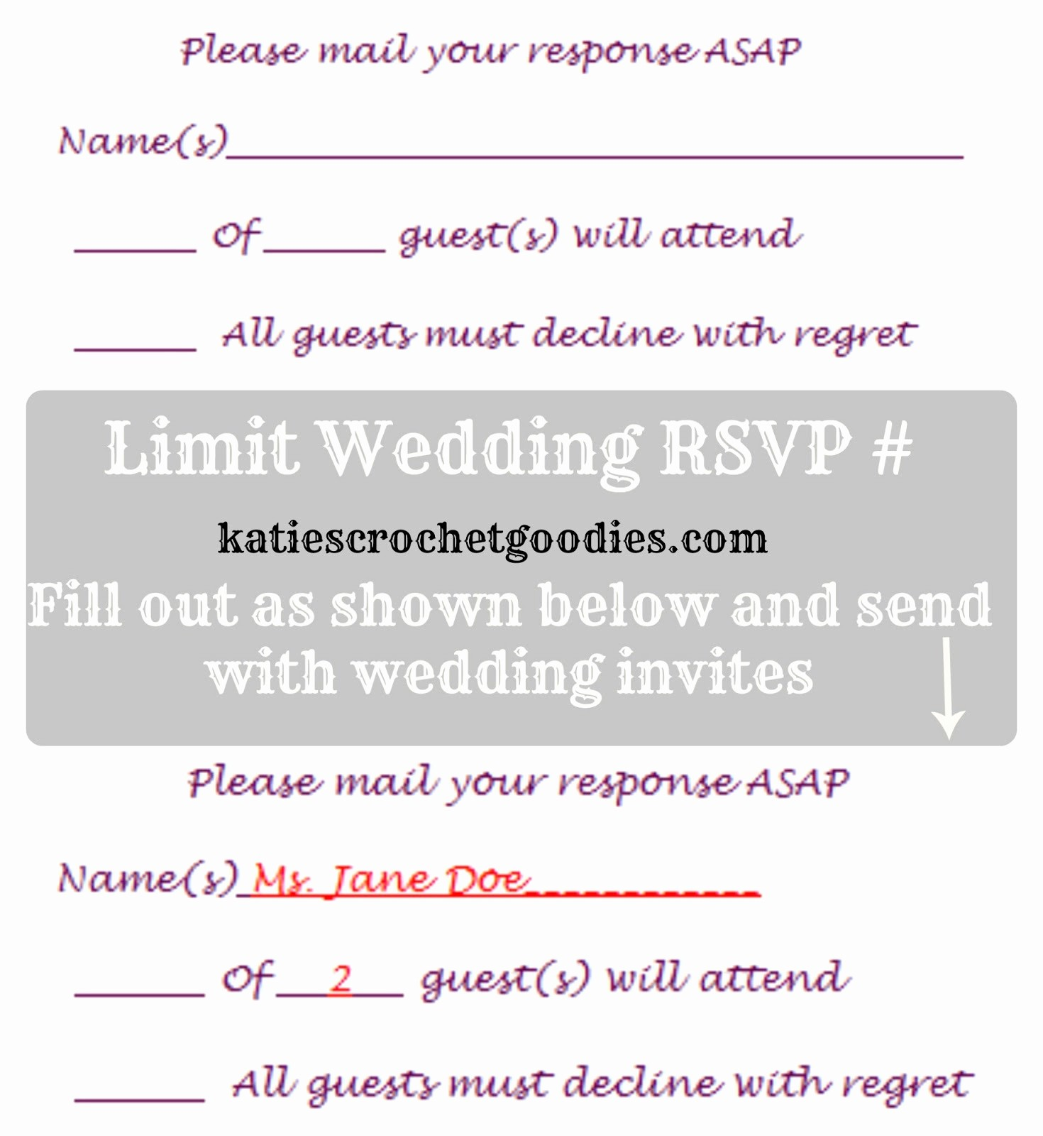 Wedding Response Card Templates Free New Free Wedding Templates Rsvp & Reception Cards Katie S