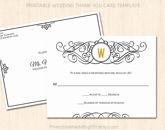Wedding Response Card Templates Free New Printable Wedding Rsvp Postcard Template Editable Wedding