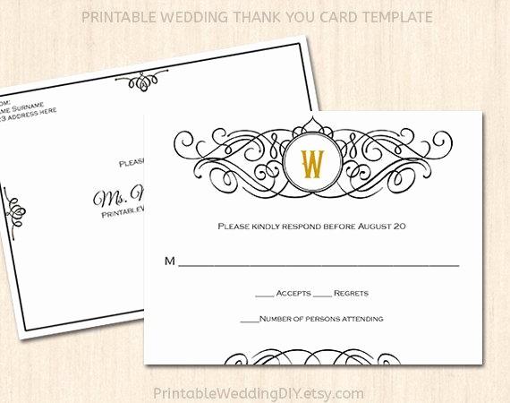 Wedding Response Card Templates Free New Printable Wedding Rsvp Postcard Template Editable Wedding
