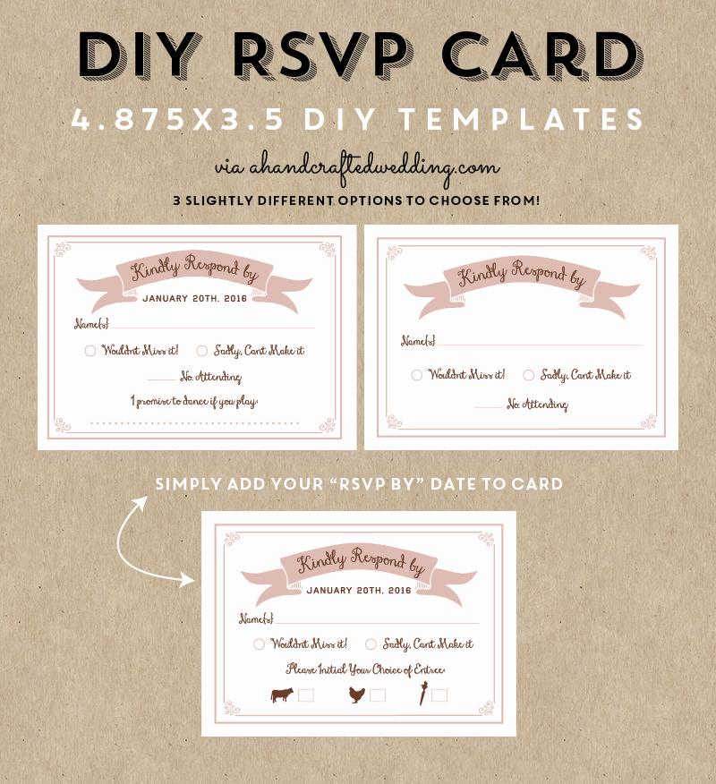 Wedding Response Cards Templates Free Beautiful Free Printable Rsvp Wedding Cards Negocioblog