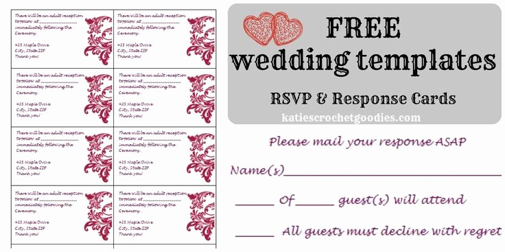 Wedding Response Cards Templates Free Best Of Best 25 Free Wedding Templates Ideas On Pinterest