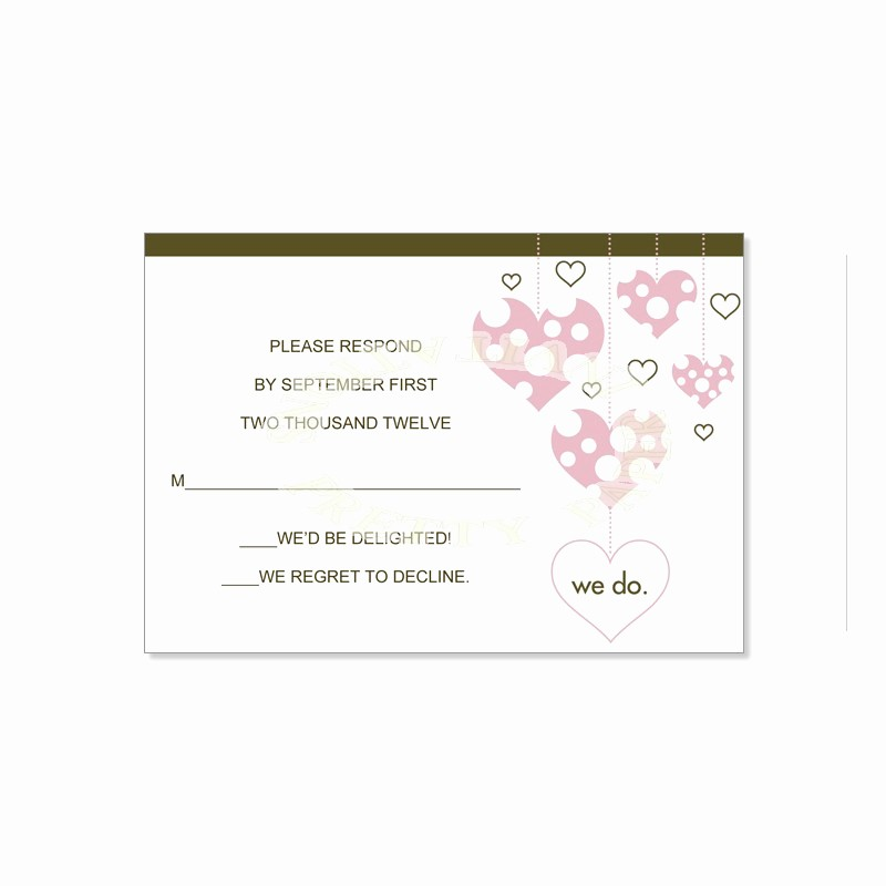 Wedding Response Cards Templates Free Fresh Response Cards