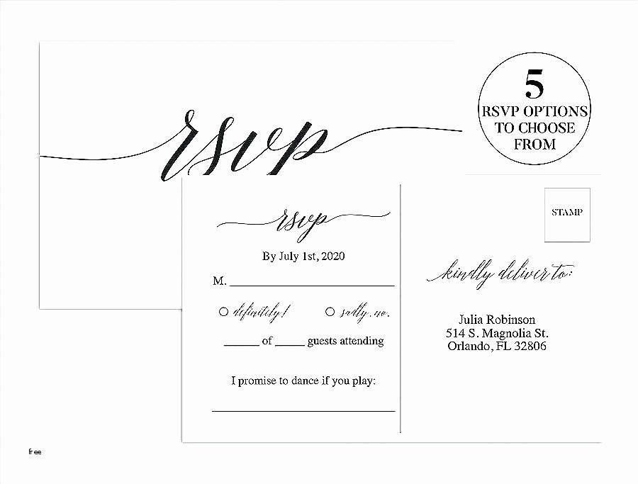 Wedding Response Cards Templates Free Lovely Wedding Rsvp Postcard Template Free Free Wedding Rsvp