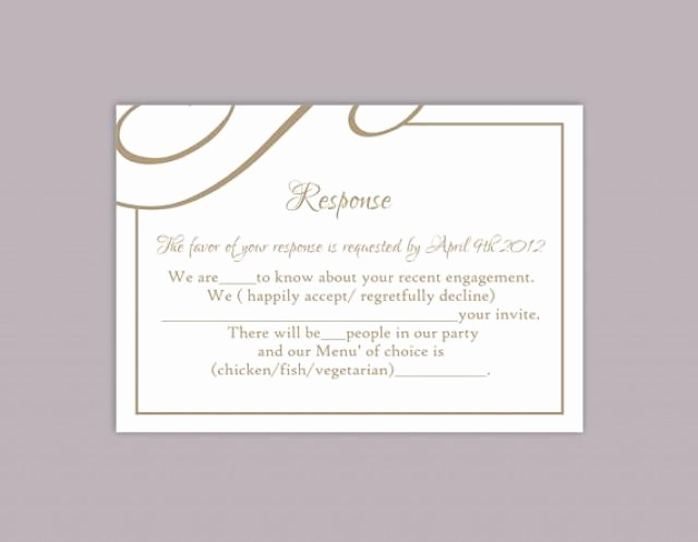 Wedding Response Cards Templates Free Unique Diy Wedding Rsvp Template Editable Text Word File Download