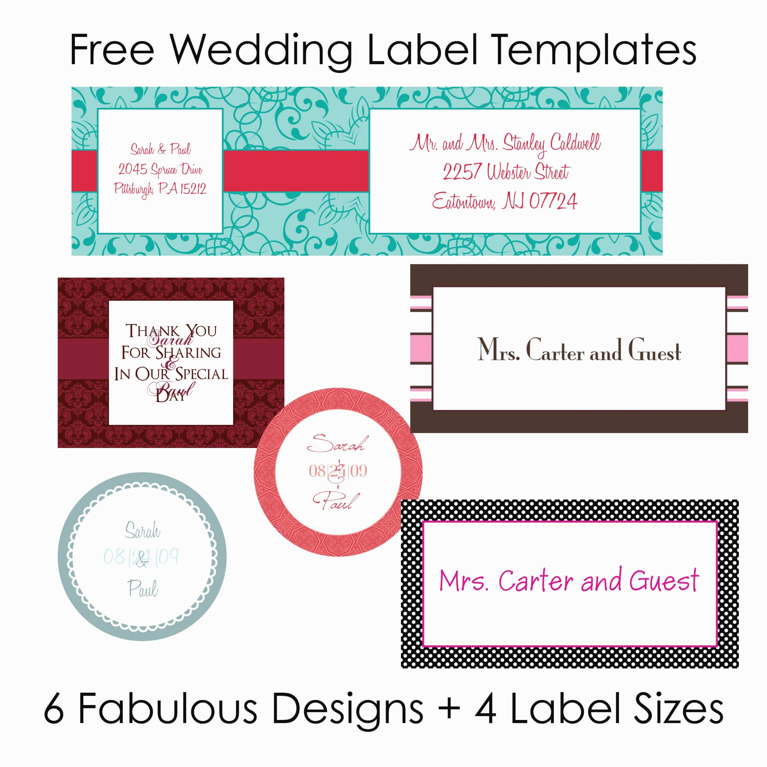 Wedding Return Address Label Template Awesome the Five Secrets You Will