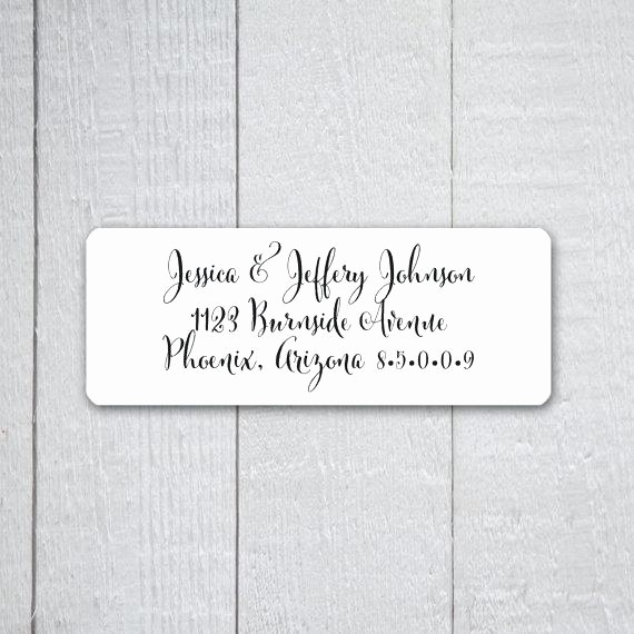 Wedding Return Address Label Template Awesome Wedding Invitation Mailing Labels – Intapapssan