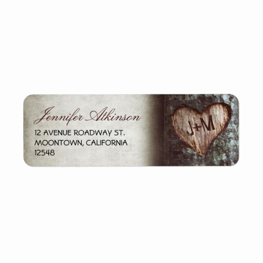 Wedding Return Address Label Template Beautiful Old Rustic Tree Wedding Return Address Labels