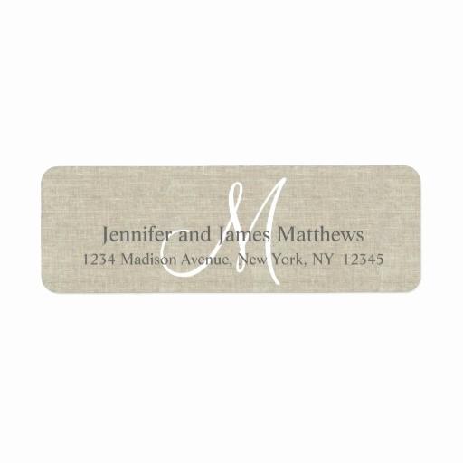 Wedding Return Address Label Template Beautiful Return Address Labels & Templates