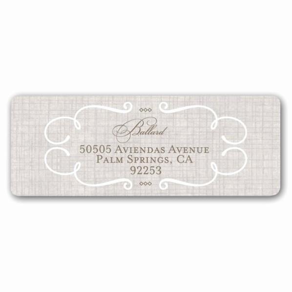 Wedding Return Address Label Template Best Of Lovely Linen Wedding Return Address Labels