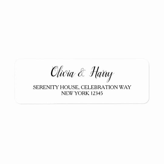 Wedding Return Address Label Template Elegant Elegant White Wedding Return Address Labels