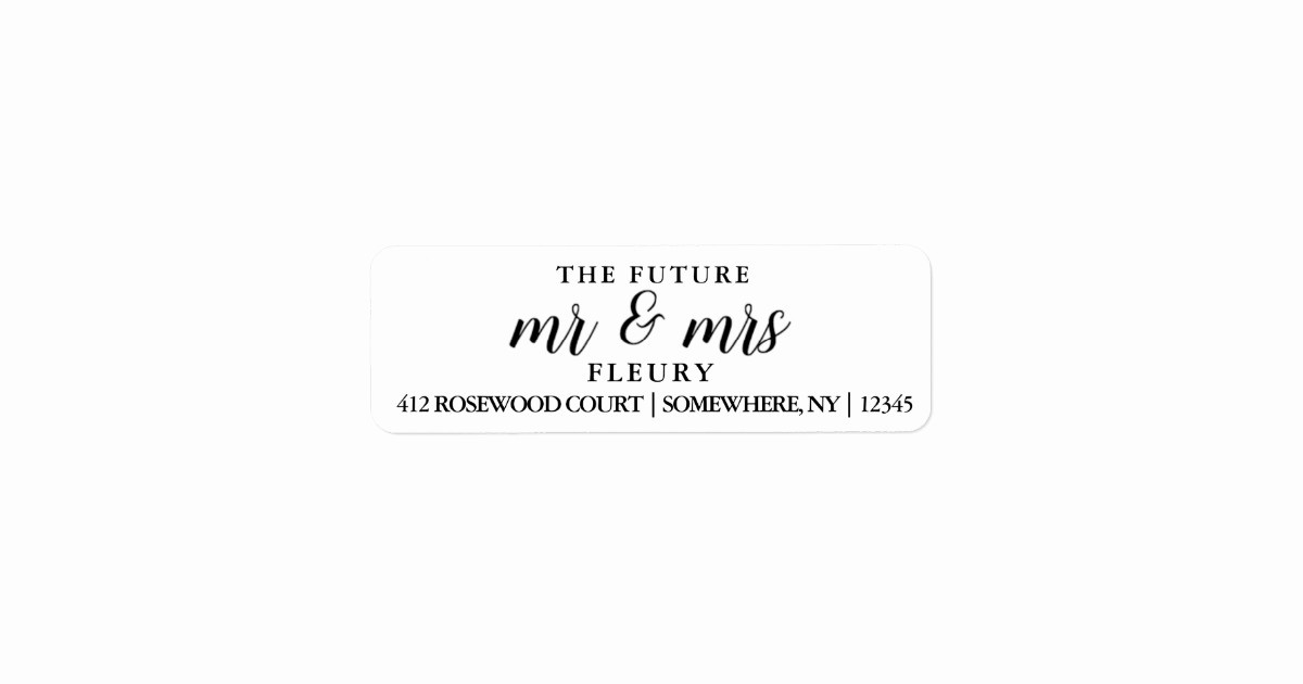 Wedding Return Address Label Template Elegant Grey Wedding Design Label Template Doc Pdf