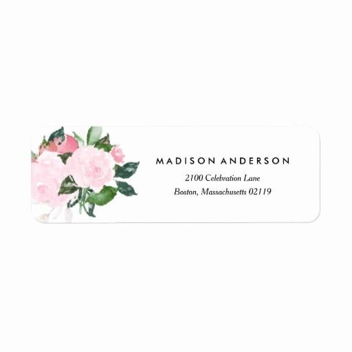 Wedding Return Address Label Template Fresh Chic Romance Return Address Label