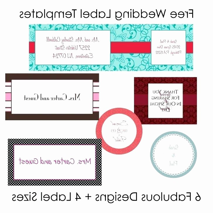 Wedding Return Address Label Template Fresh Wedding Address Label Template Download Red Poppy 3