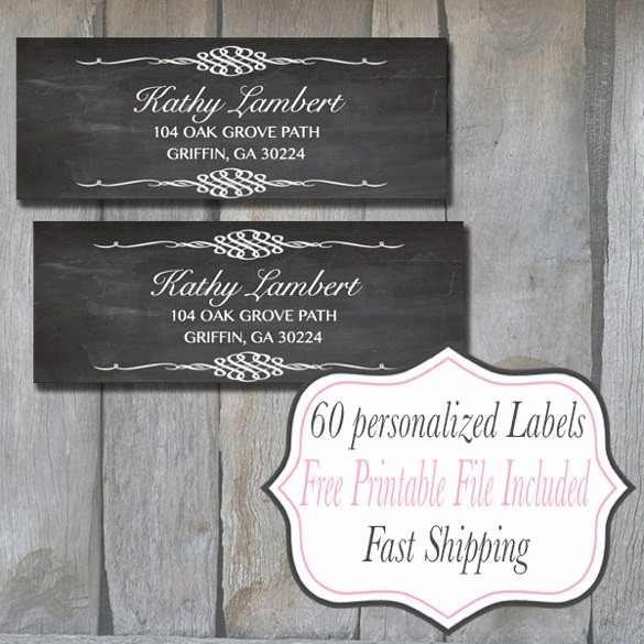 Wedding Return Address Label Template Inspirational 22 Return Address Label Templates Free Psd Eps Ai