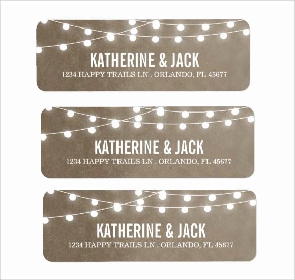 Wedding Return Address Label Template Lovely 10 Return Address Label Templates – Samples Examples