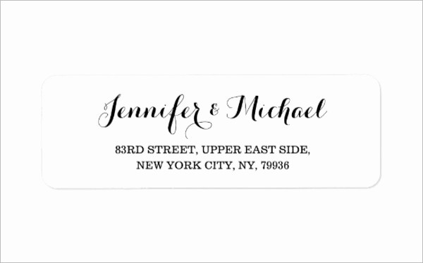 Wedding Return Address Label Template Luxury 11 Wedding Address Labels Psd