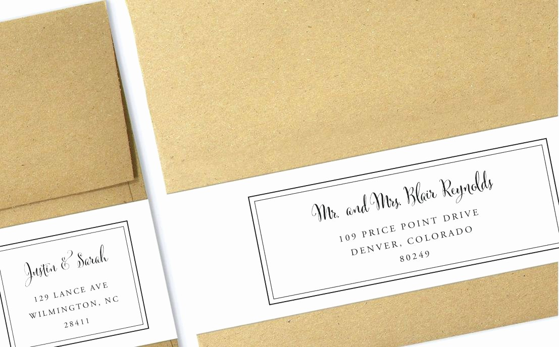 Wedding Return Address Label Template Luxury Clear Return Address Labels Free Label Templates Wedding