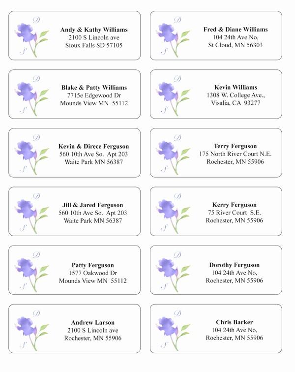 Wedding Return Address Label Template Luxury Make Envelope Addressing Easier and Extra Stylish