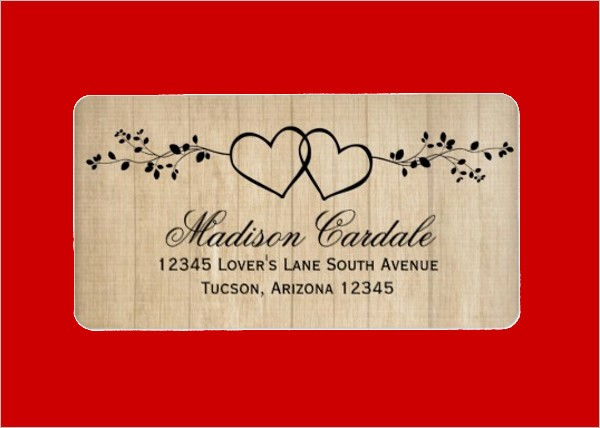 Wedding Return Address Label Template New 11 Wedding Address Labels Psd