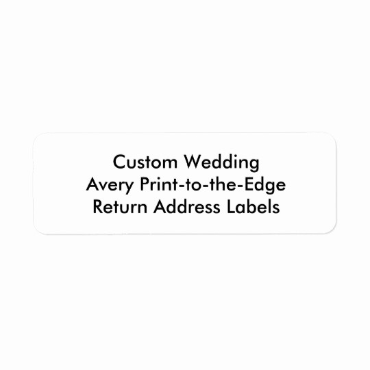 Wedding Return Address Label Template New Custom Wedding Avery Return Address Labels
