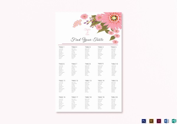 Wedding Seating Charts Templates Free Best Of 34 Wedding Seating Chart Templates Pdf Doc