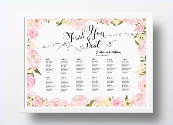 Wedding Seating Charts Templates Free Elegant Powerpoint Seating Chart Template – Pontybistrogramercy