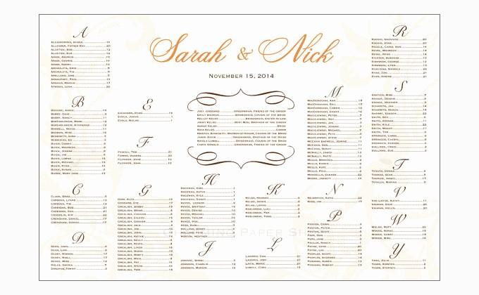 Wedding Seating Charts Templates Free New Wedding Seating Chart Template