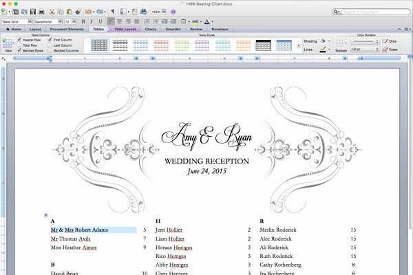 Wedding Table Seating Chart Template Awesome Microsoft Seating Chart Template Free Seating Chart