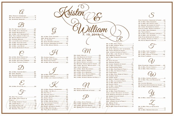 Wedding Table Seating Chart Template Awesome Wedding Seating Chart Template