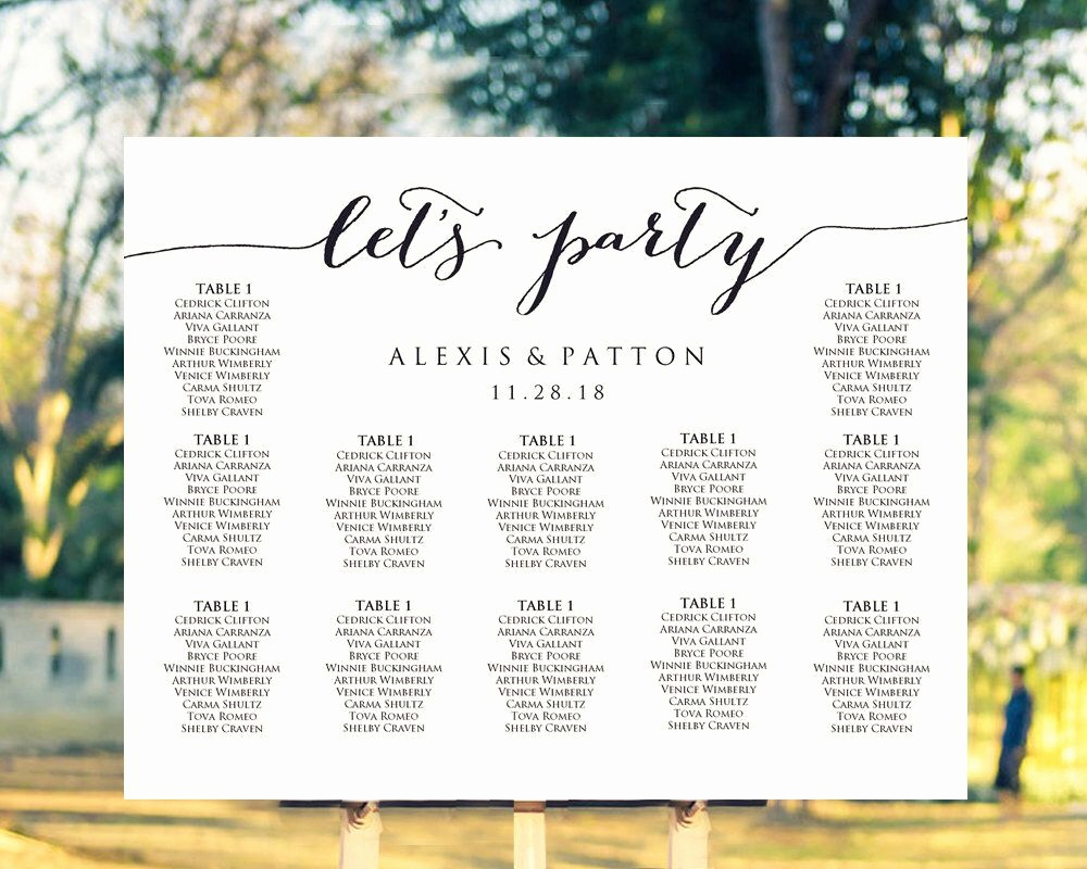 Wedding Table Seating Chart Template Elegant It S Easy to Create Your Own Personalized Wedding Seating