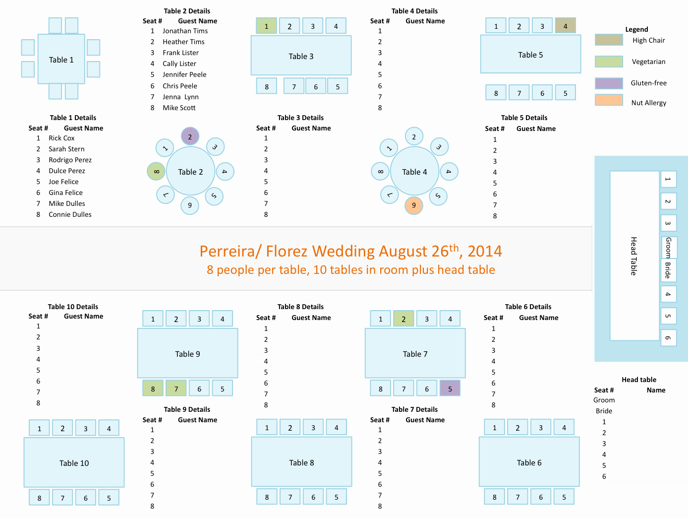 Wedding Table Seating Chart Template Luxury Wedding Planners tools Powerpoint Template for Seating