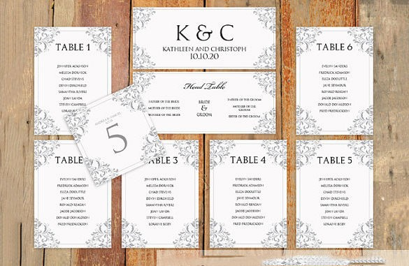 Wedding Table Seating Chart Template New Wedding Seating Chart Template – 11 Free Sample Example