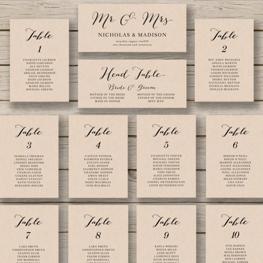 Wedding Table Seating Chart Template New Wedding Seating Chart Template Printable Seating Chart
